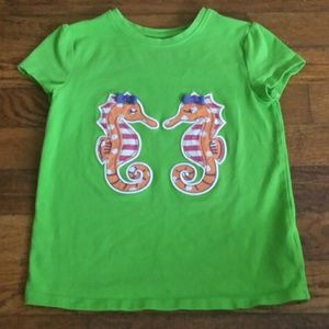 (4 for $20) JK Designs Girls Seahorse Print Top